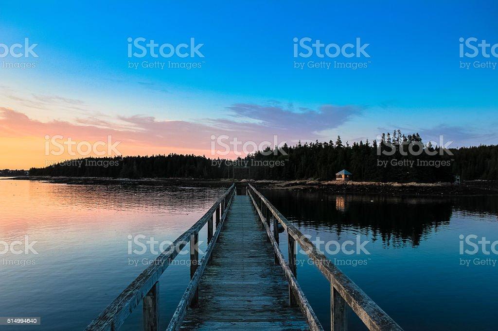 Sunset over Bridge stock photo