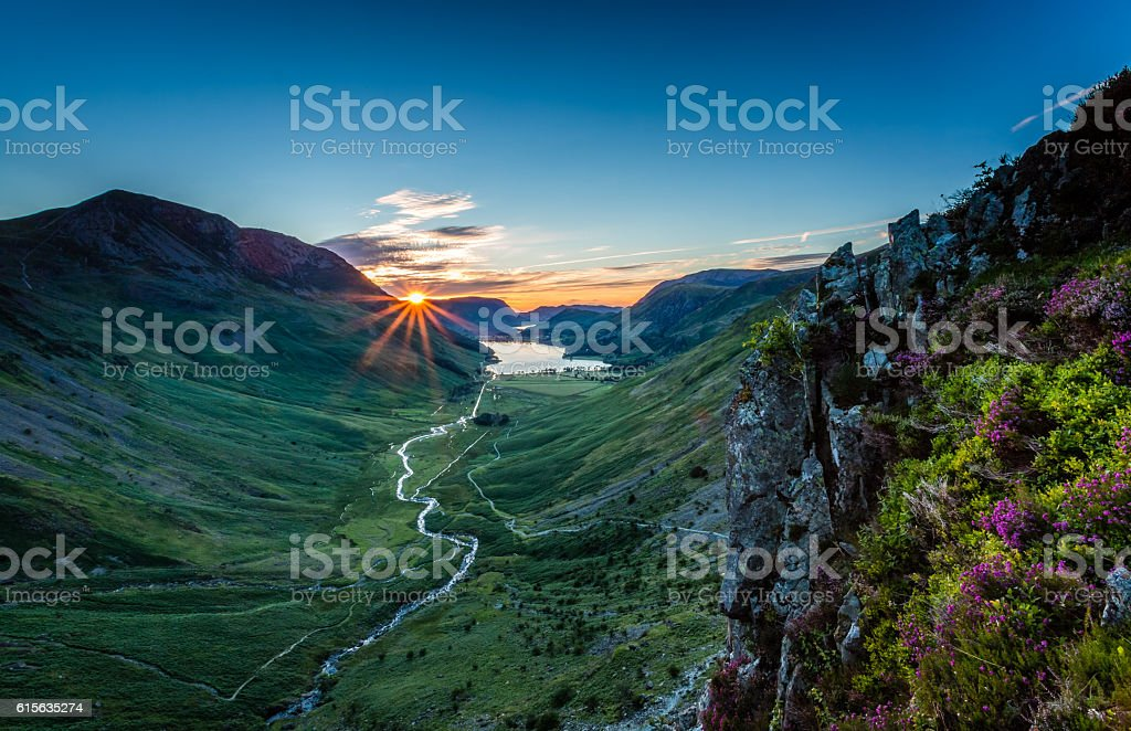 Sunset over Buttermere stock photo