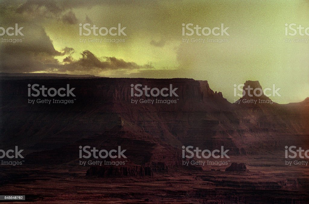 Sunset over Canyon stock photo