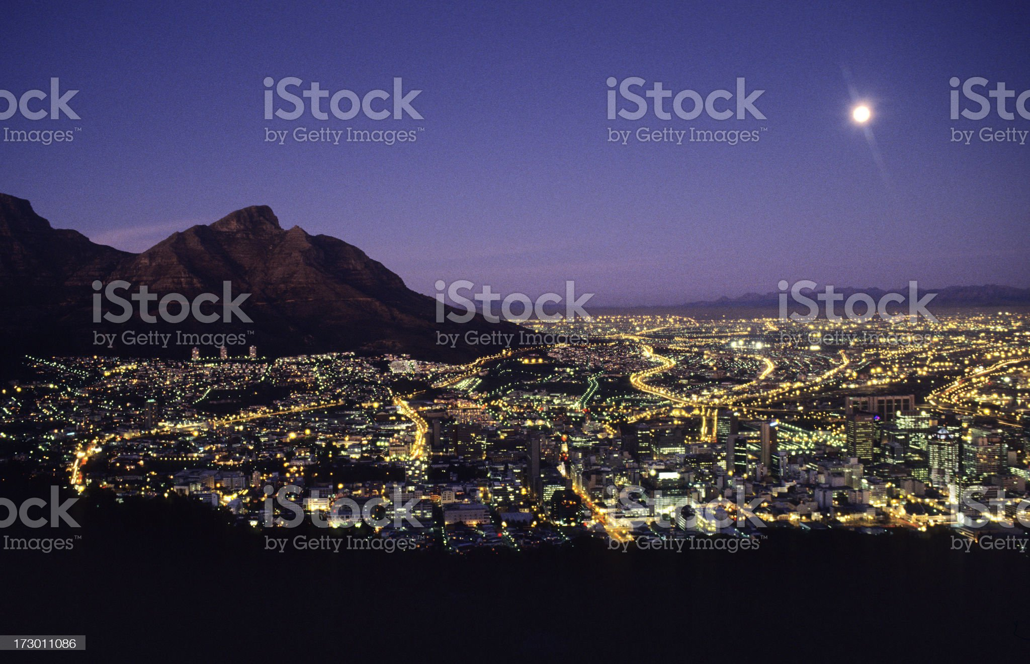 sunset over cape point, south africa royalty-free stock photo