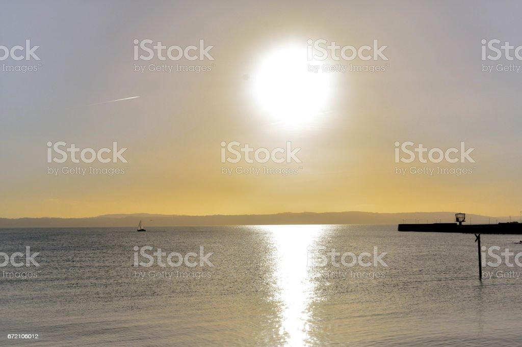 Sunset over Carrick stock photo