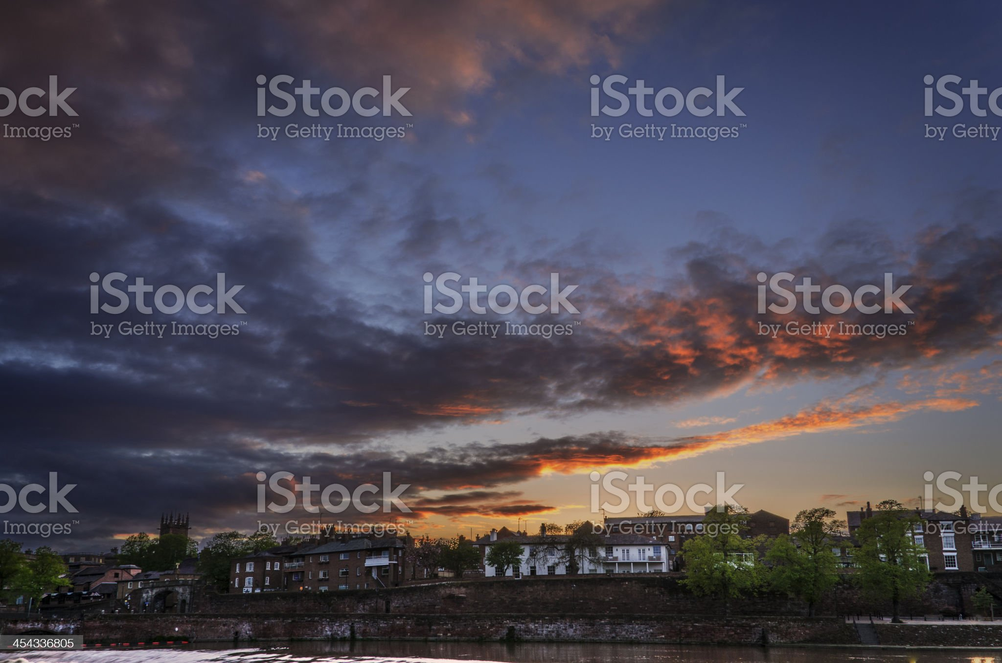 Sunset over Chester City royalty-free stock photo