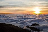 Sunset over clouds on Lombok, Indonesia
