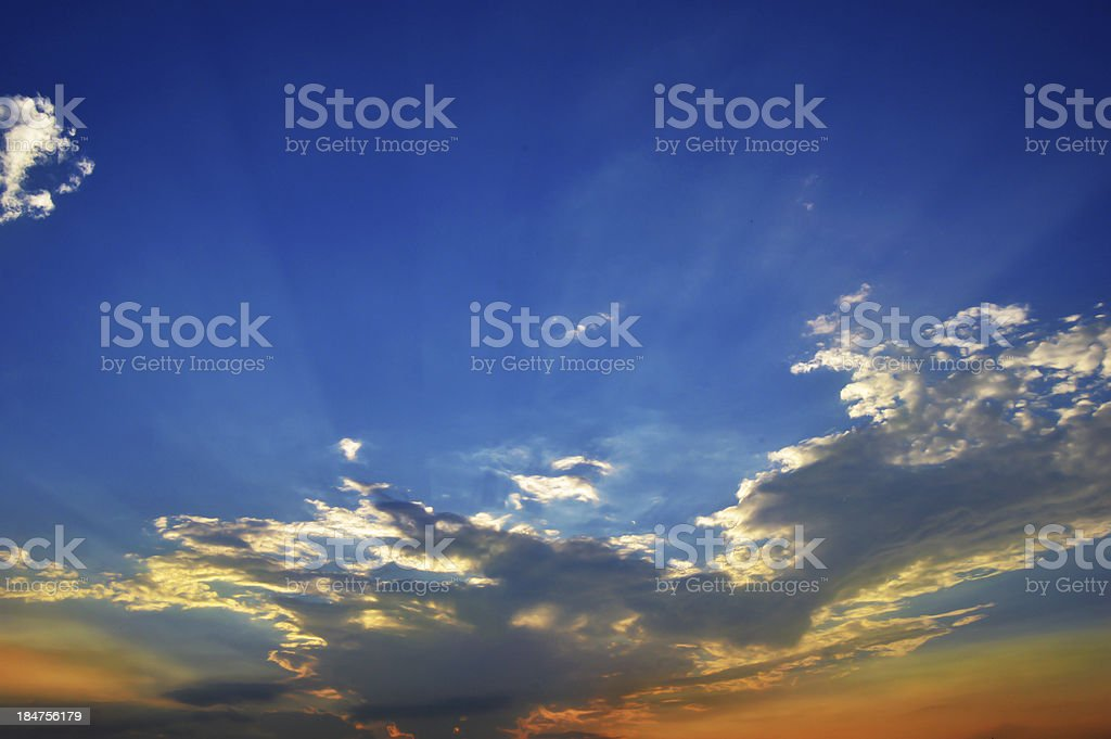 Sunset over Cloudscape royalty-free stock photo