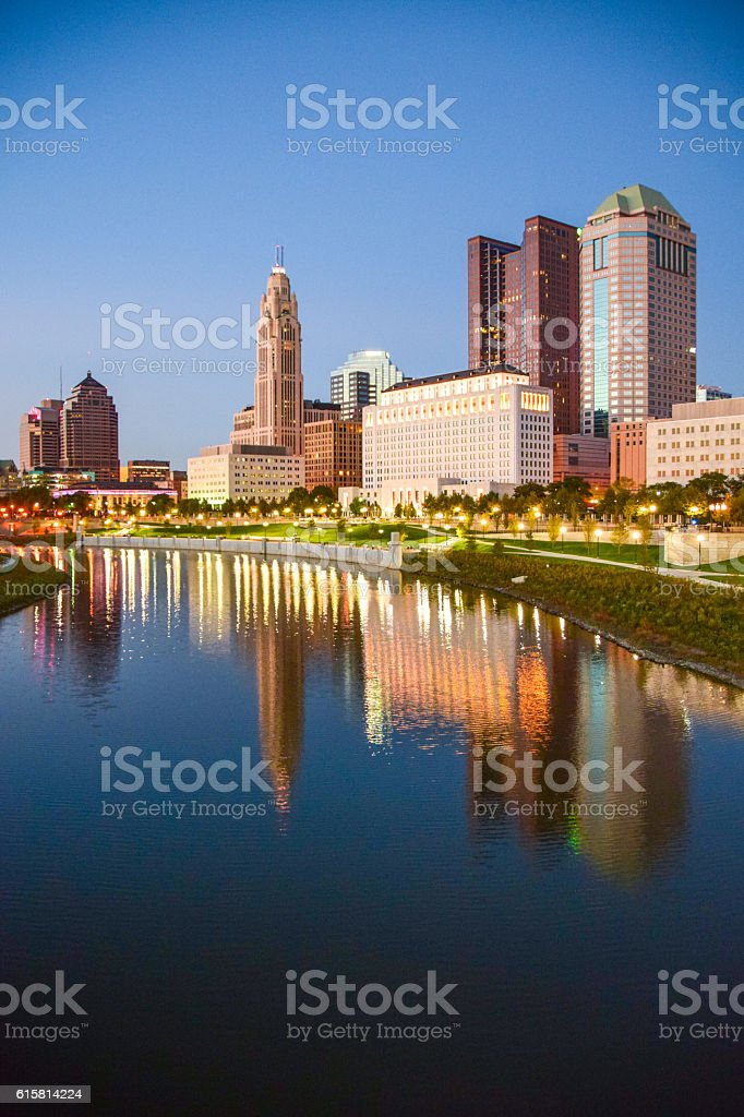 Sunset Over Columbus, Ohio stock photo