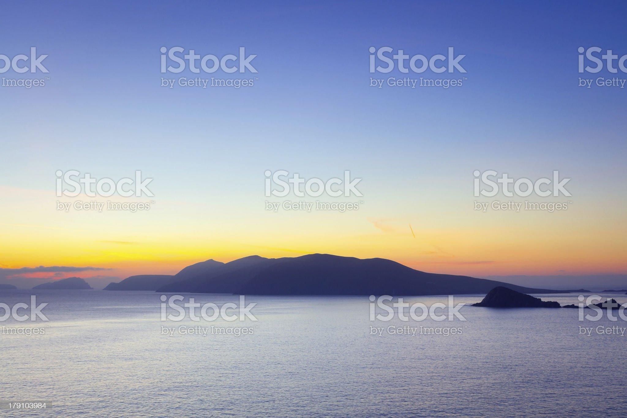 Sunset over Dingle Peninsula in Ireland royalty-free stock photo