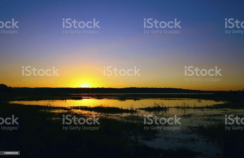 Sunset Over Lake Jackson royalty-free stock photo
