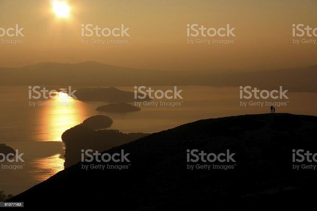 Sunset Over Loch Lomond royalty-free stock photo