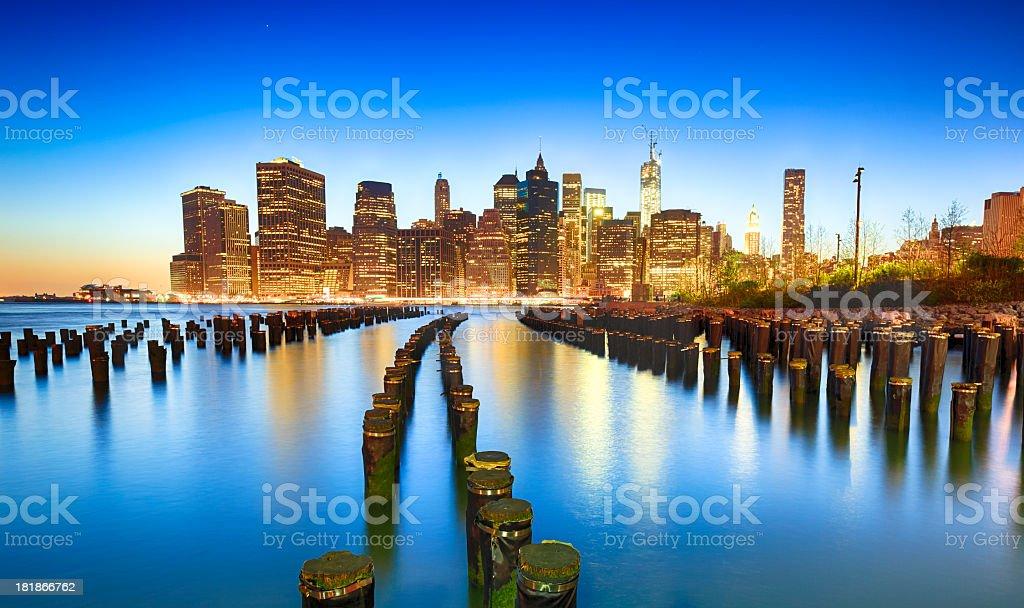 Sunset over Manhattan, NYC royalty-free stock photo