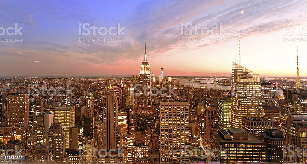 Sunset over Manhattan NYC XXL royalty-free stock photo