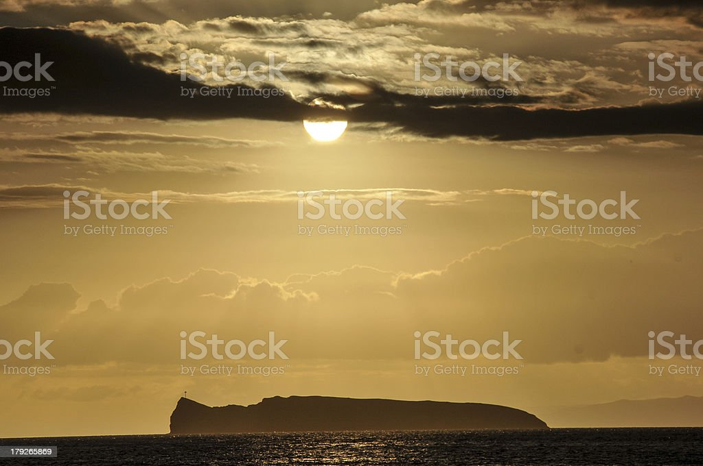 Sunset Over Molokini stock photo