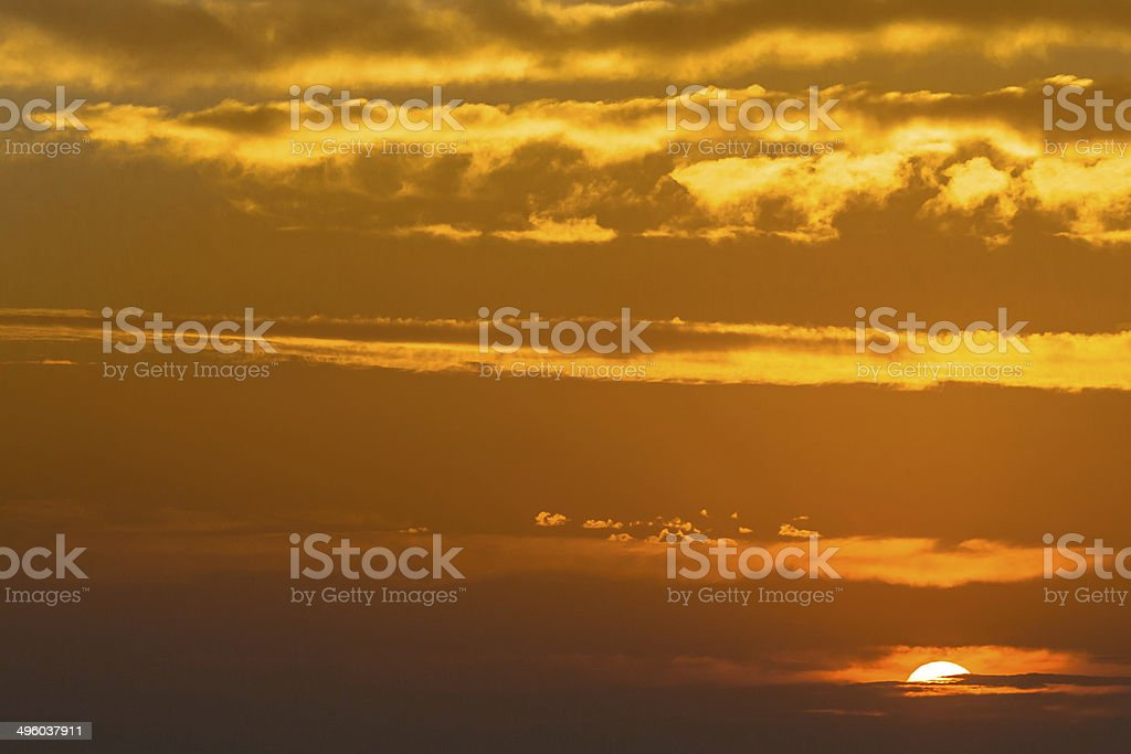 Sunset over Mountains in Catalonia royalty-free stock photo