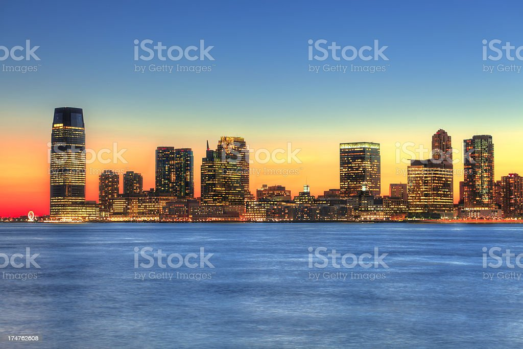Sunset over New Jersey, NJ stock photo