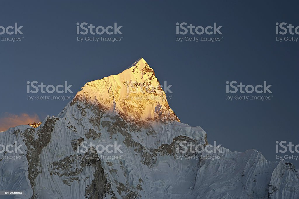 Sunset over Nuptse royalty-free stock photo