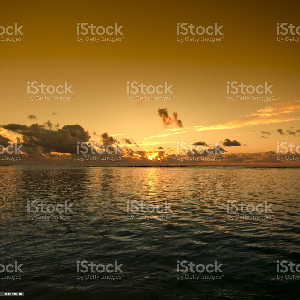 Sunset over Ocean royalty-free stock photo