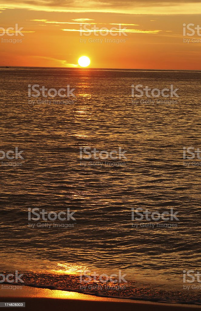 Sunset Over Pacific Ocean royalty-free stock photo