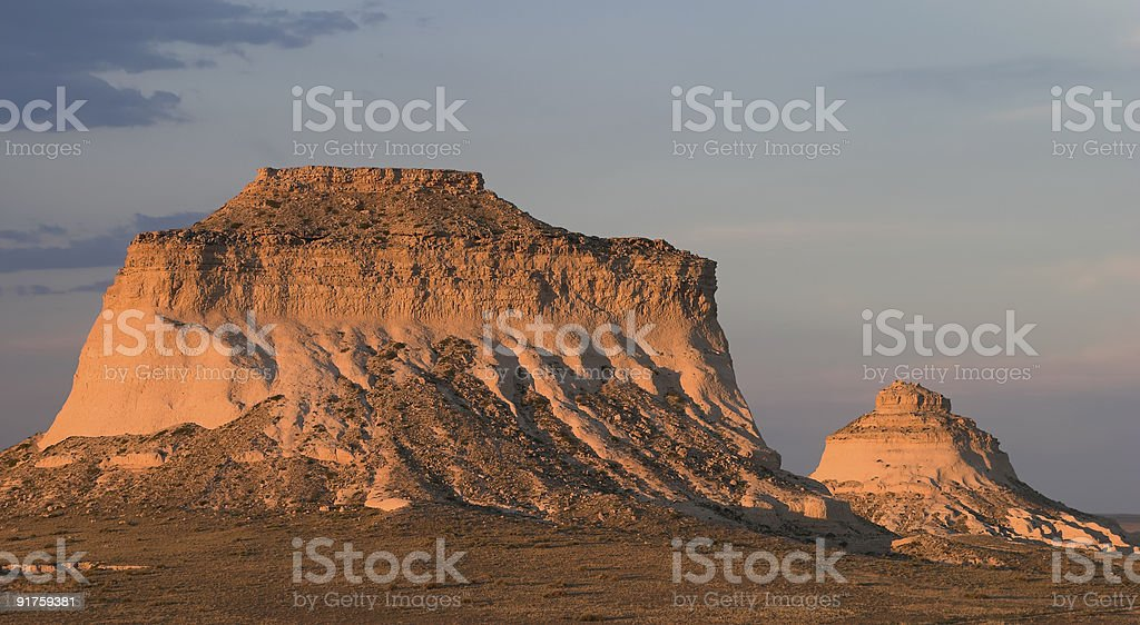 Sunset Over Pawnee Buttes stock photo