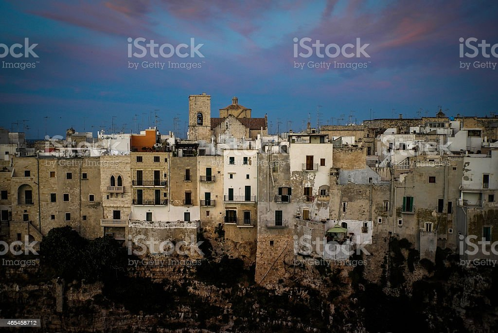 Sunset Over Polignano royalty-free stock photo