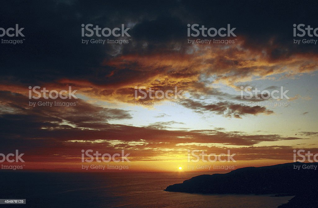 Sunset over Portpatrick Wigtownshire stock photo