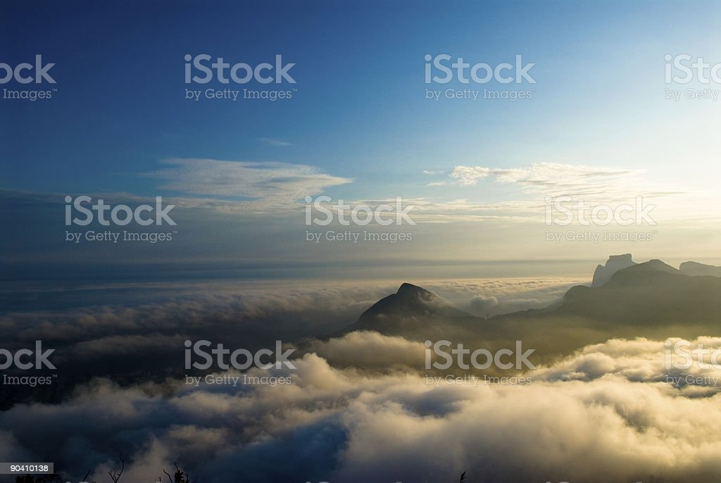 Sunset over Rio royalty-free stock photo