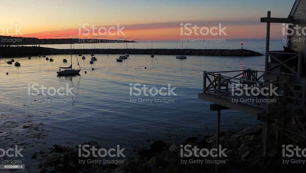 Sunset Over Rockport Bay stock photo