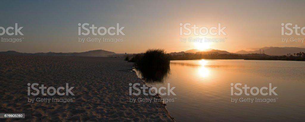 Sunset over San Jose Del Cabo Estuary / Lagoon near Cabo San Lucas Baja Mexico BCS stock photo