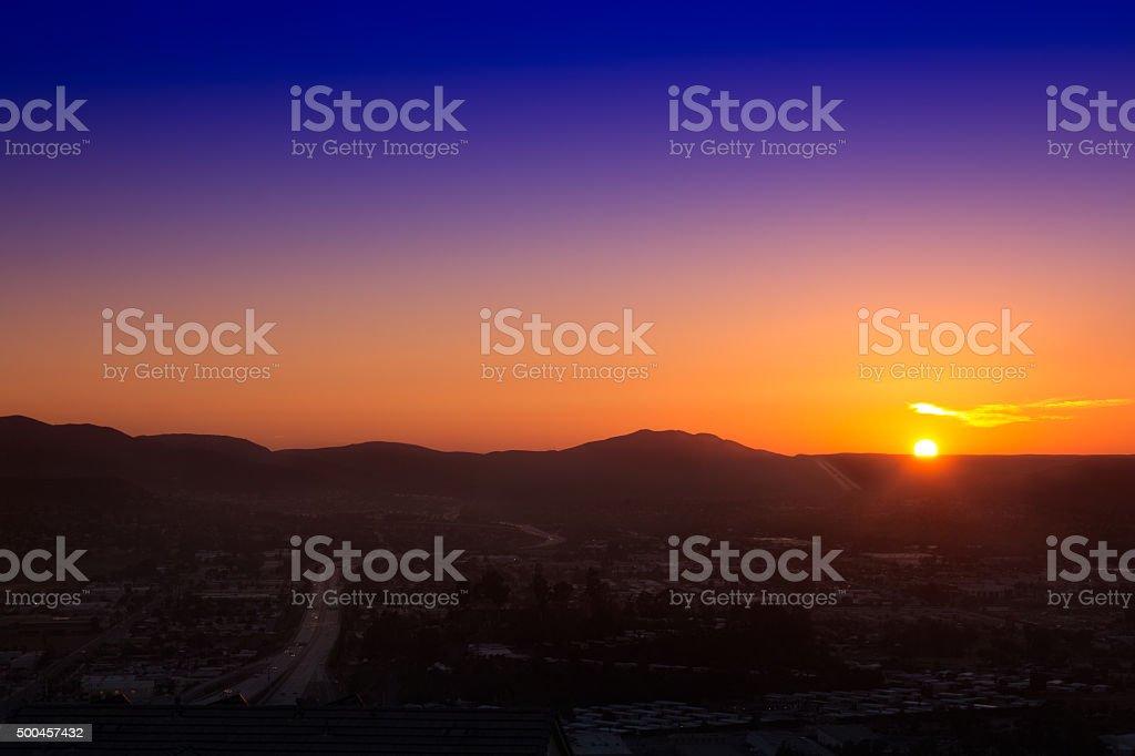 Puesta de sol sobre Santee foto de stock libre de derechos
