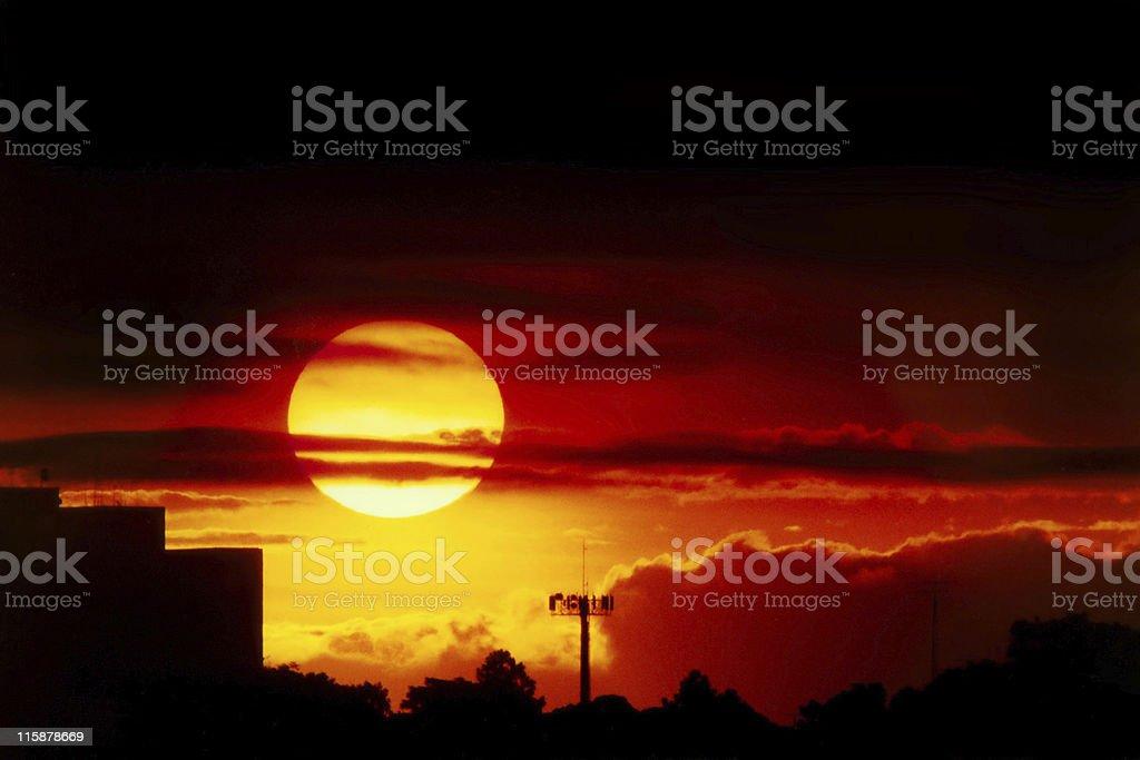Sunset over Sao Paulo royalty-free stock photo