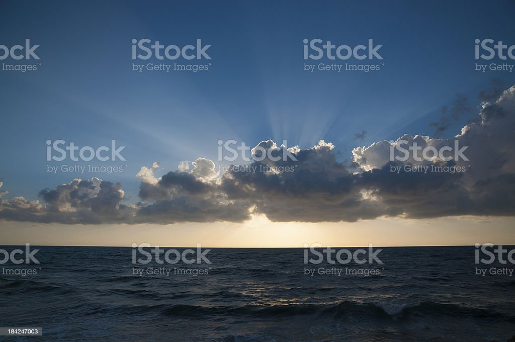 Sunset over sea royalty-free stock photo