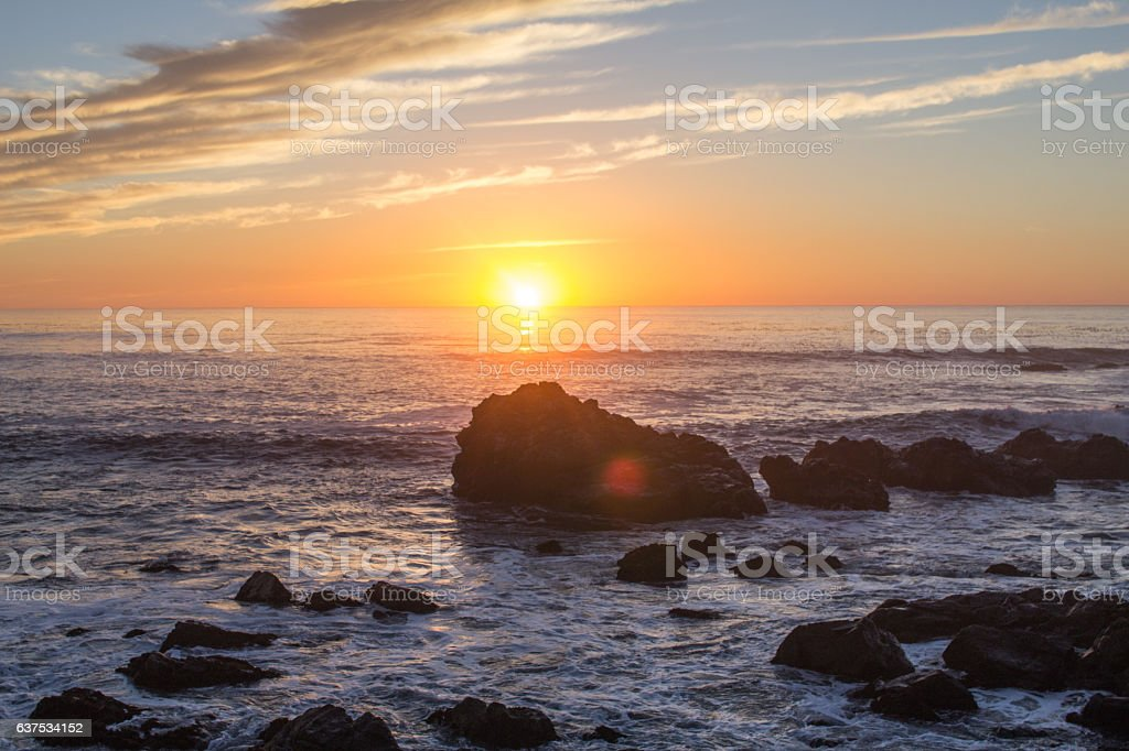 Sunset Over Sea - Stock Image stock photo