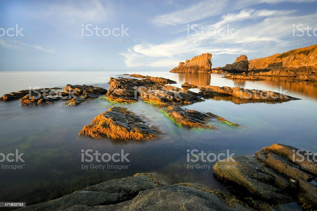 Sunset over Sinemorec Rocks royalty-free stock photo