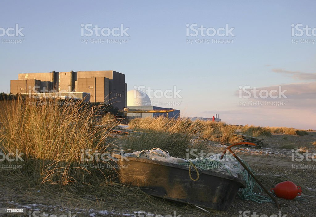Sunset over Sizewell stock photo
