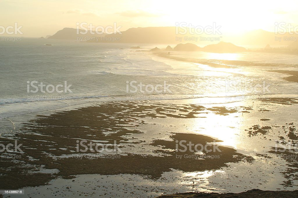 Sunset Over South Lombok Island royalty-free stock photo