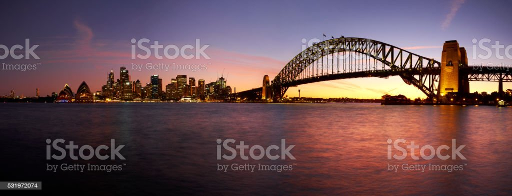 Sunset Over Sydney Harbour stock photo