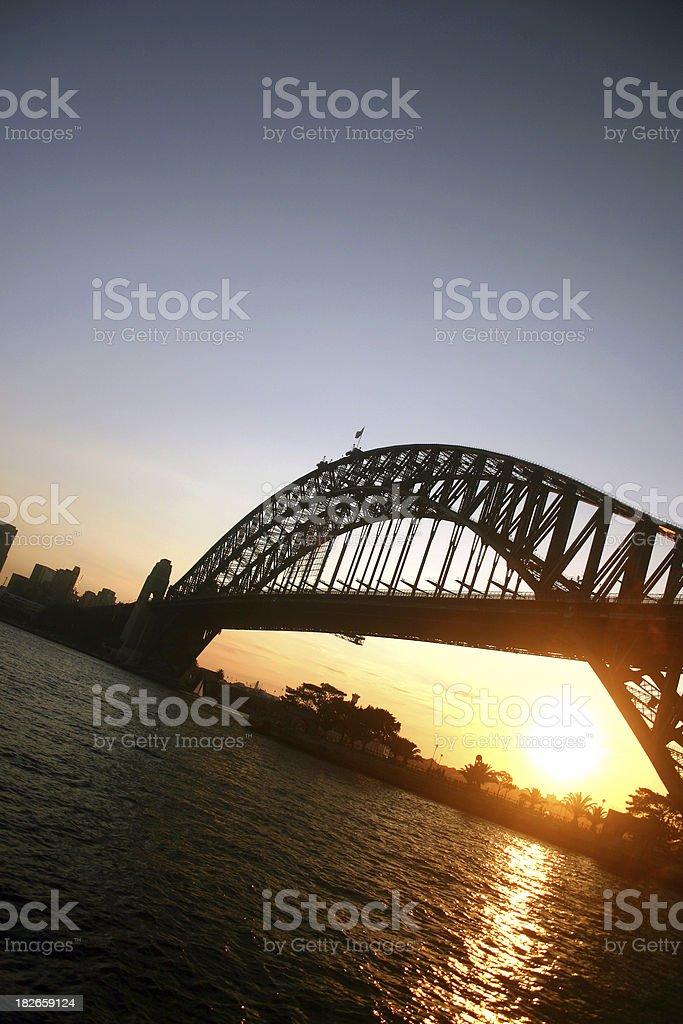 sunset over sydney stock photo