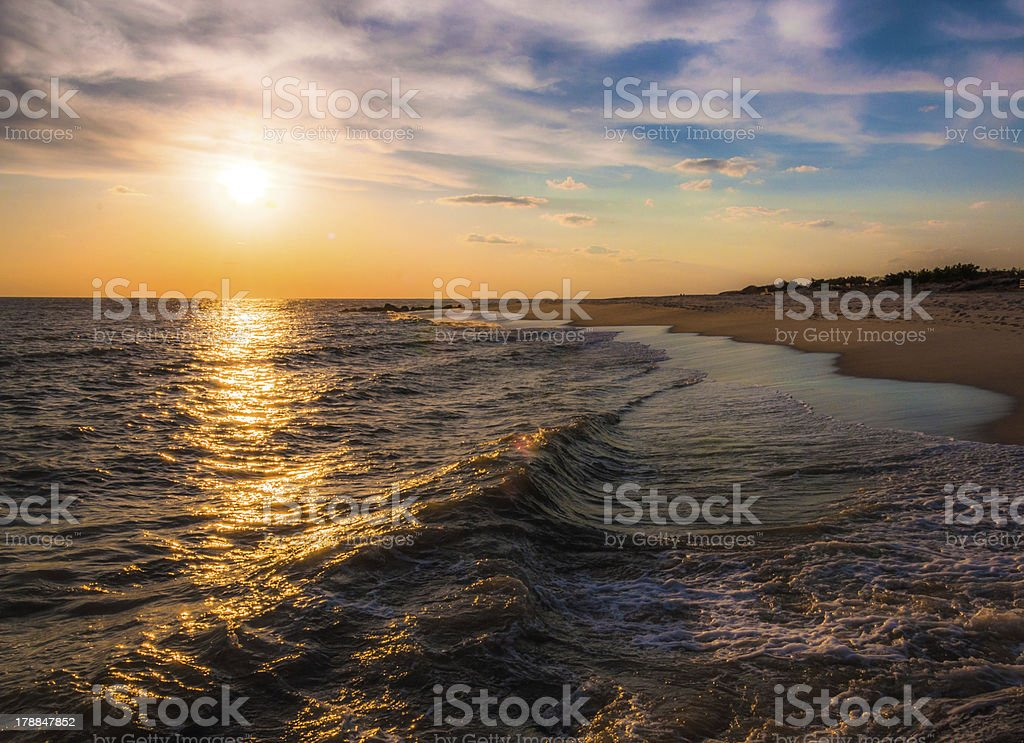 Sunset over the Atlantic Ocean, Cape May, New Jersey. royalty-free stock photo