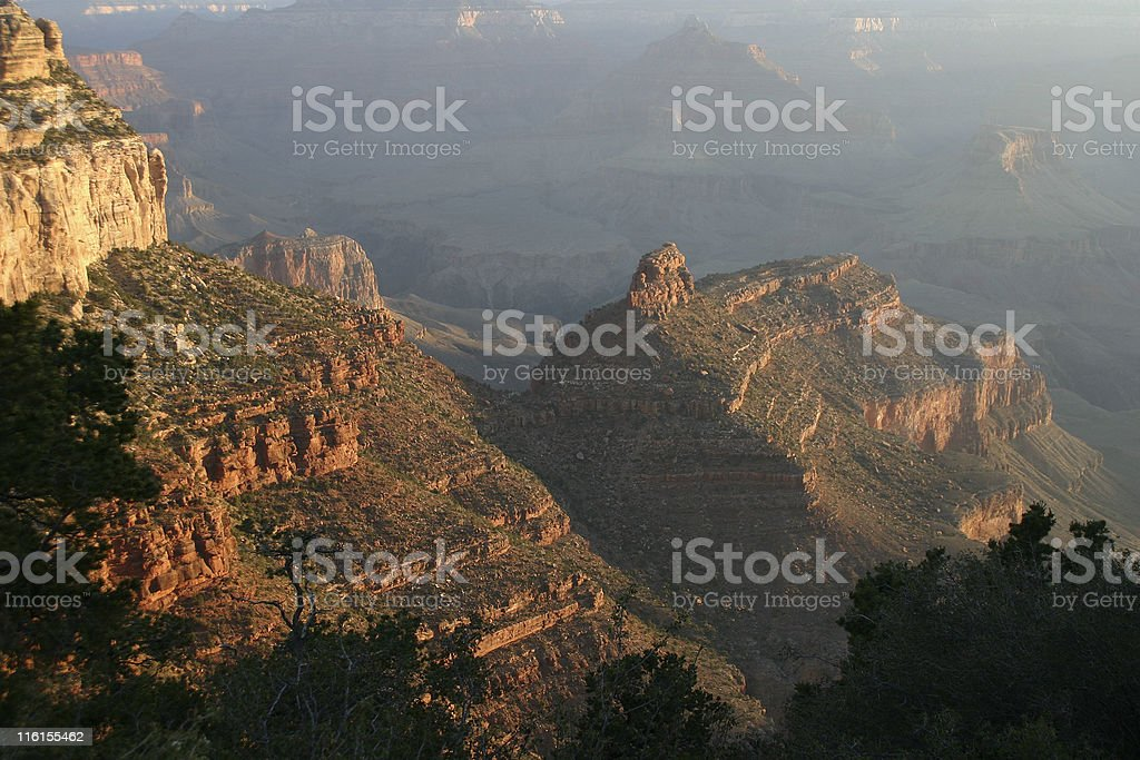 Sunset Over the Canyon royalty-free stock photo