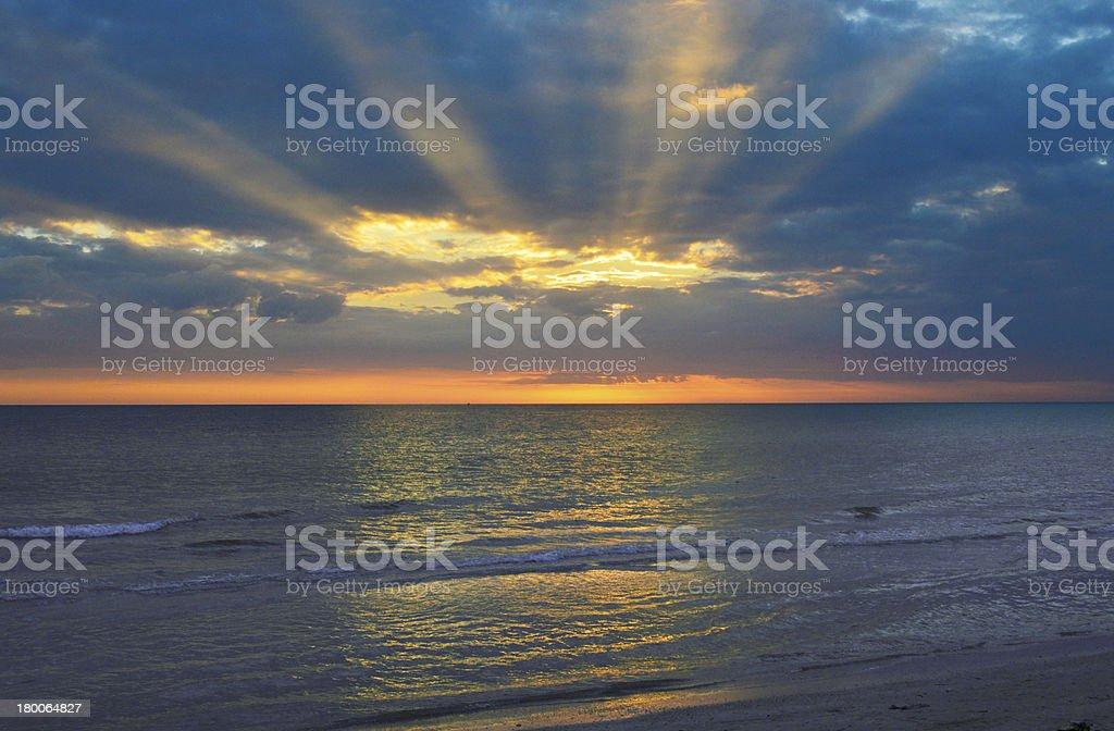 Sunset Over the Gulf stock photo