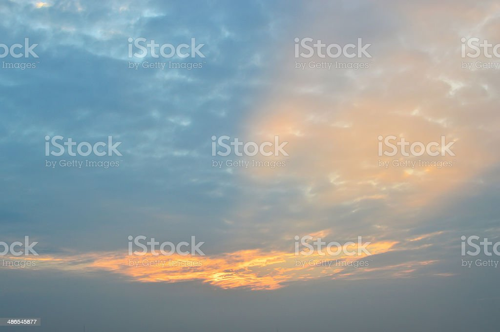 Sunset over the Mekong River royalty-free stock photo