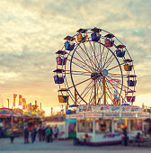 Sunset over the Midway
