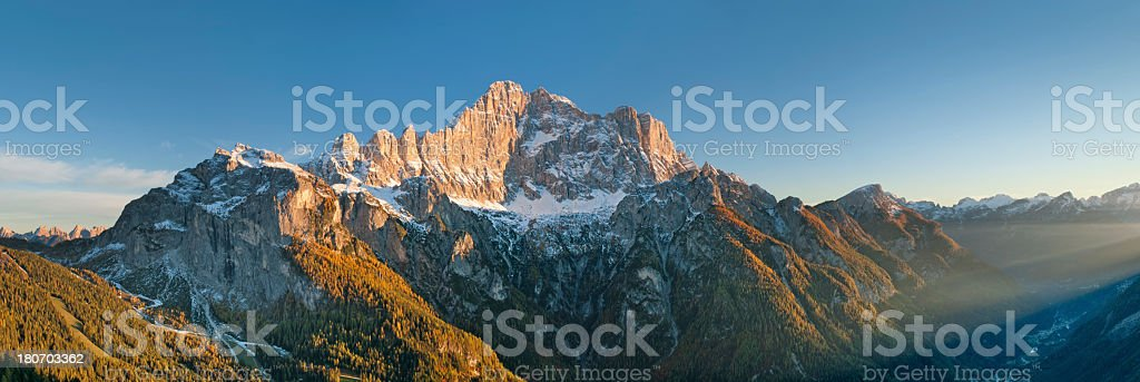 Tramonto sul Civetta royalty-free stock photo