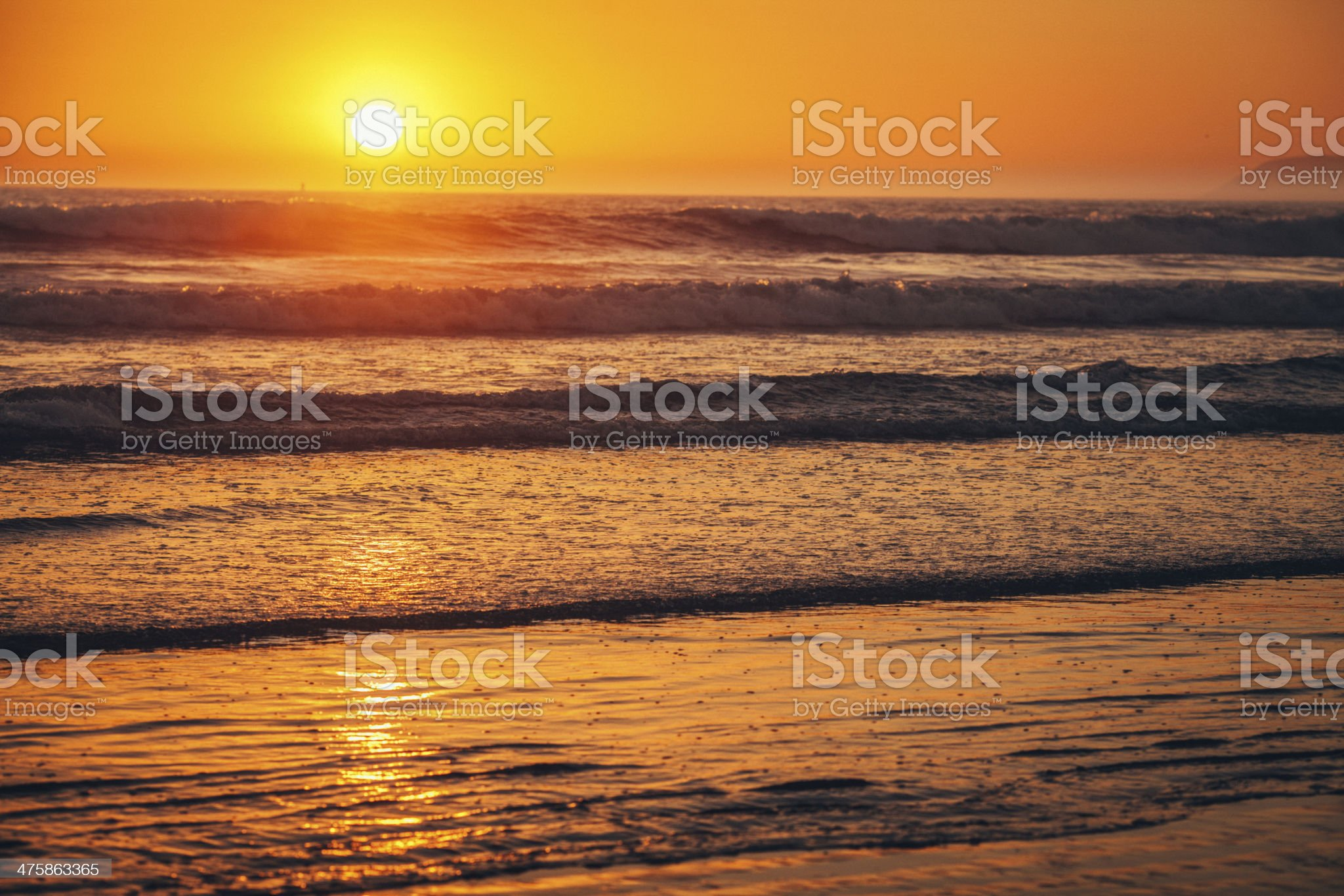 Sunset over the Pacific royalty-free stock photo