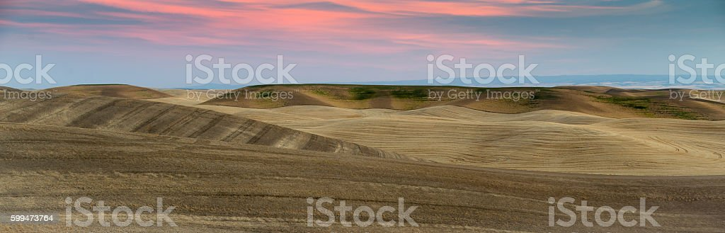 Sunset Over the Palouse stock photo