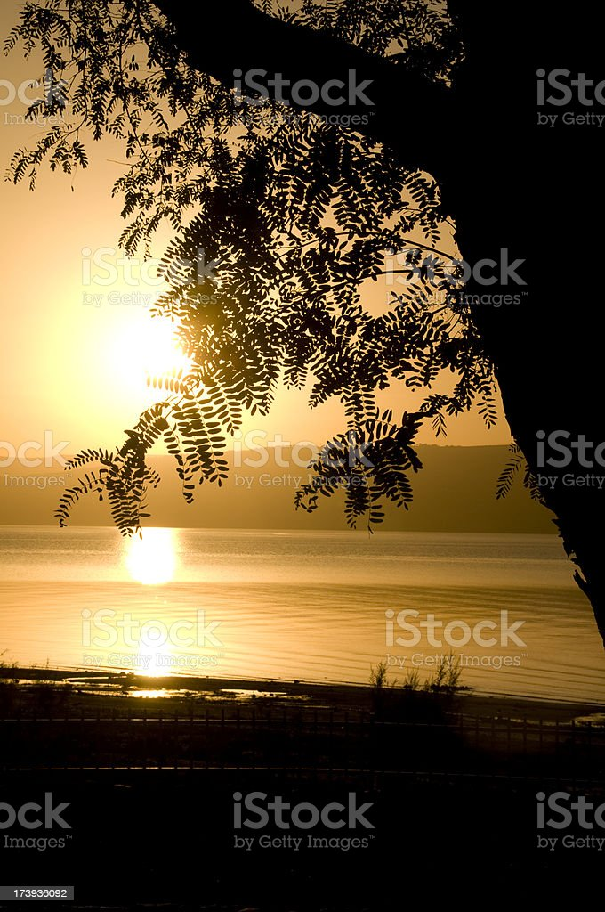 Sunset over the Sea of Galilee royalty-free stock photo