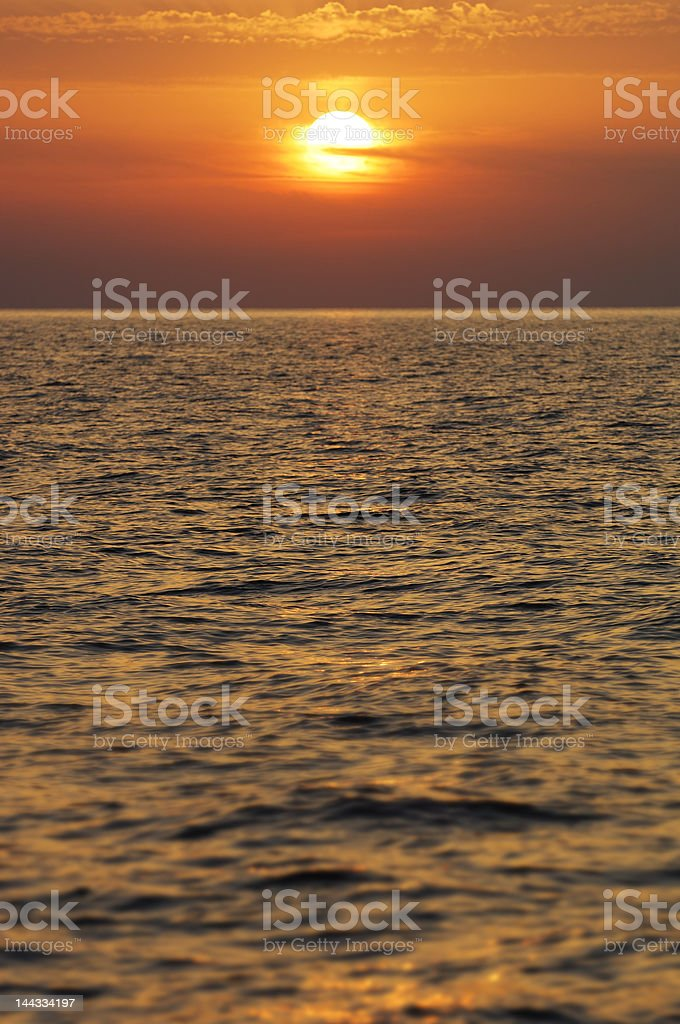 tramonto sul mare royalty-free stock photo