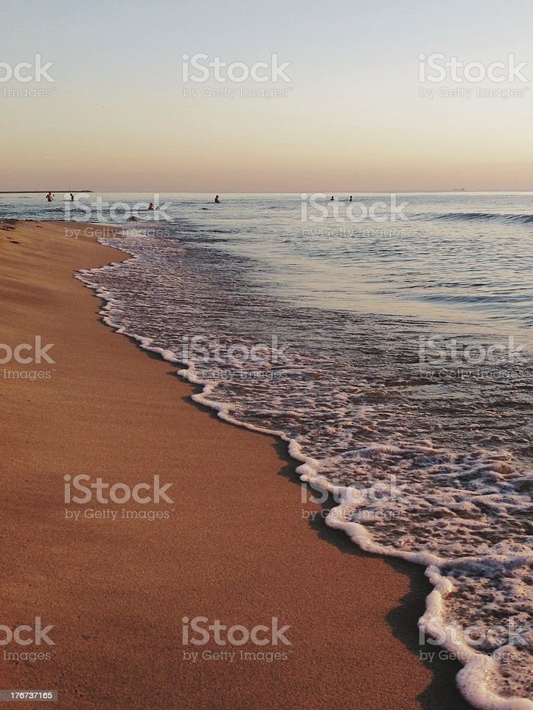 Sunset over the sea royalty-free stock photo