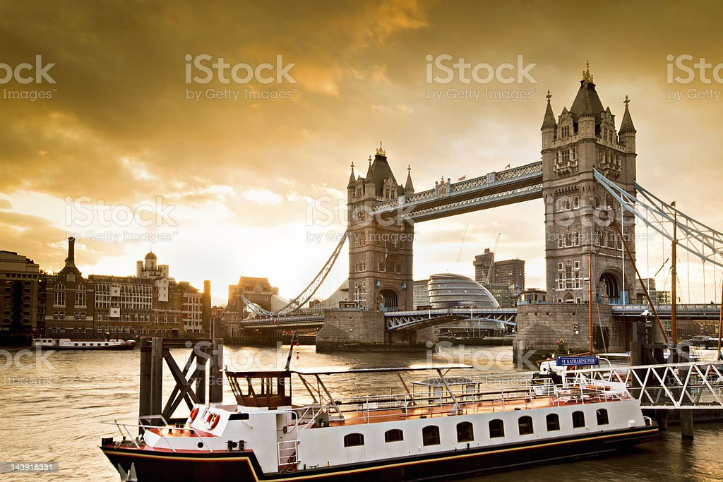 Sunset over Tower bridge royalty-free stock photo
