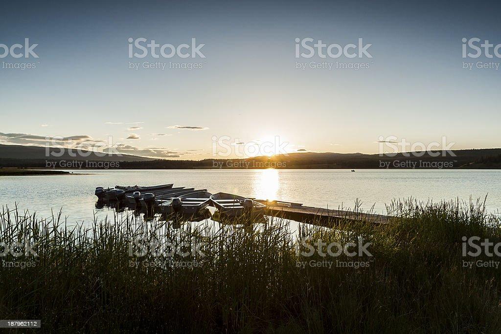 Sunset over Tunkwa Lake - Kamloops, British Columbia royalty-free stock photo