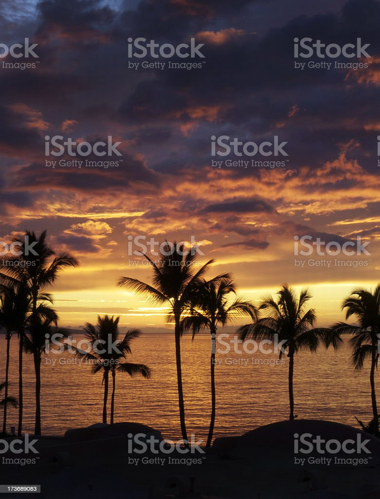 Sunset Over Wailea royalty-free stock photo