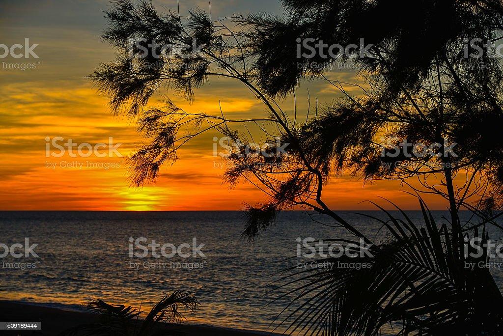 Sunset Over West Philippine Sea stock photo